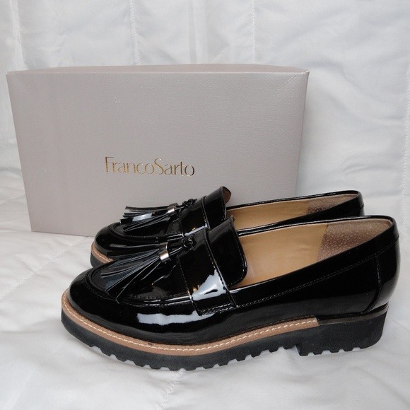 eb184f4b92b Franco Sarto Black Patent Leather Carney Loafers